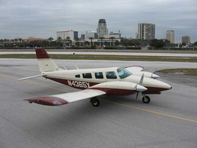 A picture of our Piper Seneca II