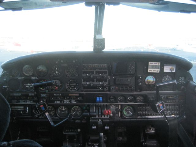 Inside view of our aircraft